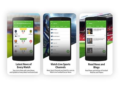 Football App Screenshots app icon ux ui fifa 20 fifa world cup fifa fifaworldcup football club sports screenshots football app sports app soccer football sports