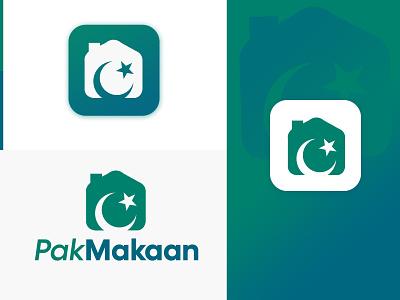 PakMakaan.com Logo Design branding startup real estate design brand identity pakmakaan graphic design logo