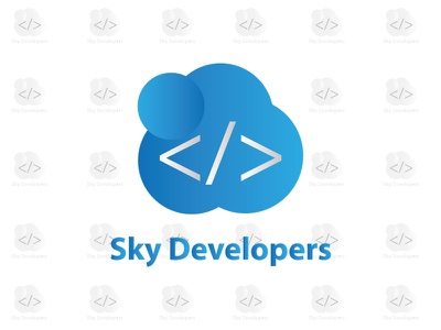 Sky Developers sky brand identity design logo