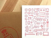 Happy New Year! build thoughtbot software development illustration line art new years 2015