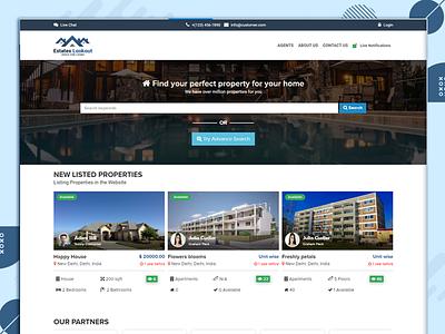 Property Lookout Website Design color website ui design ui combination design