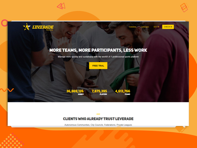 Leverade Website illustration development website ui design ui combination design