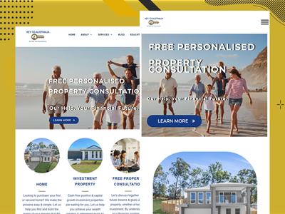 Key Australia Website Design ux ui combination branding developer ui design css clean color design