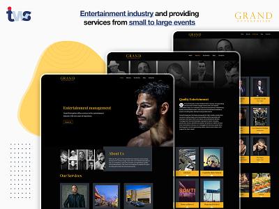 Grand Ent Website development developer website ui design color combination design