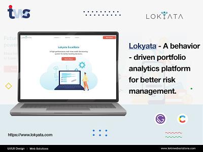 Lokyata Website developer ui logo ui design color combination design