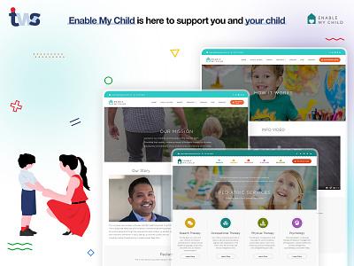 EnableChild vector responsive logo development developer website ui design color combination design