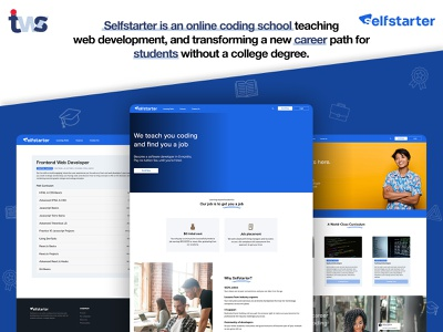 Self Start Website development css responsive website developer ui design ui color design
