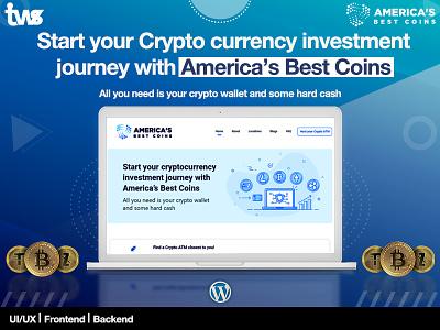 Americas Best Coin branding logo illustration clean ui design combination color design