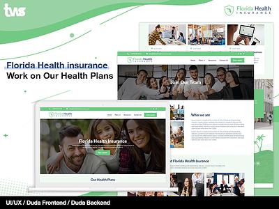 Florida Health Insurnce logo branding graphic design illustration ui design clean combination color design