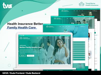 Travel Nurse Health Insurance ui clean ui design combination color design