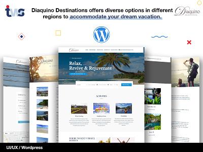 Diaquino Vacation Rental Website illustration ui design ui combination color design