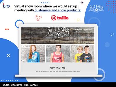 Salt Crek Website web development ui design combination color design