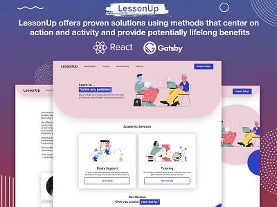 LessonUp Website illustration website ui design combination color design