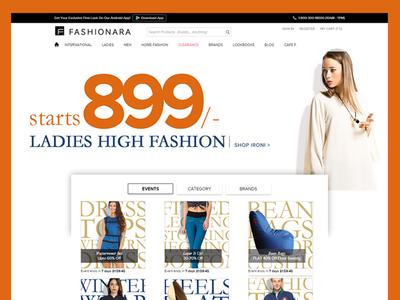 Fashionara   Online Shopping Home Page Design