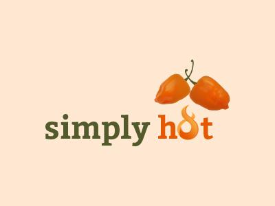 Simply Hot - Logo Design branding simply hot restaurant art logo type typography color font print logo design illustration