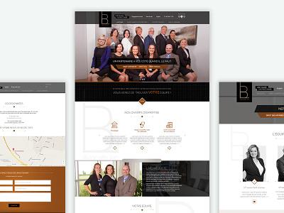 LB Avocats - Responsive Website website responsive media queries landing pages development developer css combination color clean