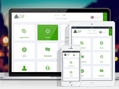 ZAP - Dashboard Home Page website responsive pages queries media landing development developer css combination color clean
