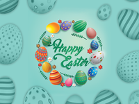 Happy Easter Day - Banner Design