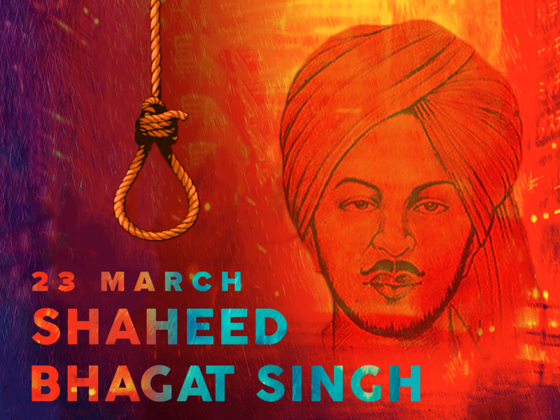 Shaheed Bhagat Singh (23 March 1931) fighter freedom legend singh bhagat shaheed march 23