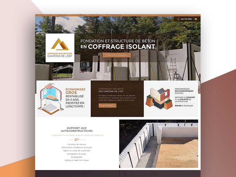 Create Coffragesisolants Web Design website pages inner html development developer css combination color