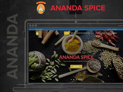 Ananda Spice Web Design And Development website responsive pages ui development developer products food css color app web