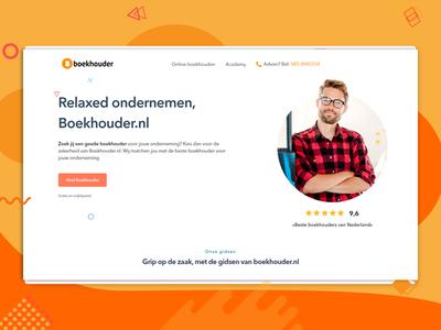 Boekhouder development developer ui design responsive css clean combination design