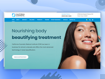 California Cosmetic website developer css development responsive design combination