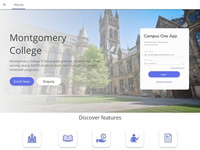 College landing page simple design..