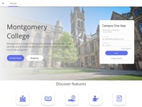 College landing page simple design..