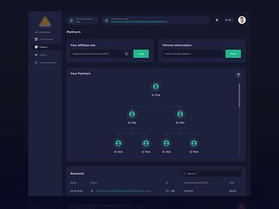 Partners - Crypto Dashboard UI Design web design design clean minimal buy sell ui bitcoin web app partners nft cryptocurrency ui design dashboard crypto