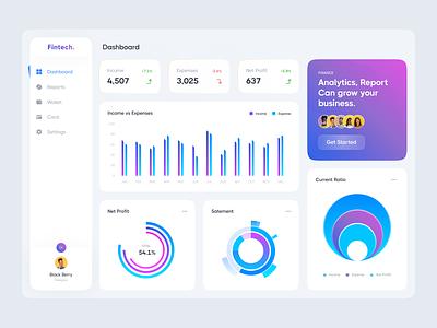 Financial Dashboard design ux ui design clean minimal ios ui banking mobile design wallet transaction credit card blog dashboard user interface finance