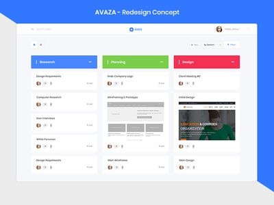AVAZA - Redesign ui ticket task tables statistics avaza sidebar redesign desktop dashboard cards admin