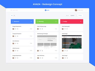 AVAZA - Redesign