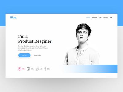 Folio - Portfolio Concept Design