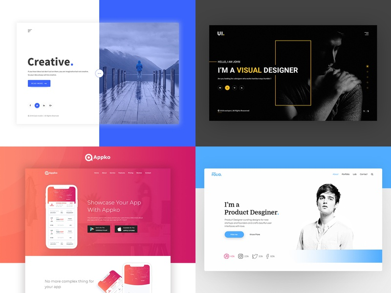 Top 4 of 2018 2018 trends top landing page design app ui motion design visual design interface design ux colorful design interaction top4shots black ui design dashboard design clean minimal ui