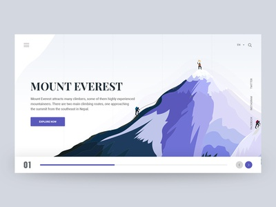 Mount Everest - Header Style ios illustration creative header header unique design web design typography ui design minimal design header exploration hero header creative clean everest mount everest