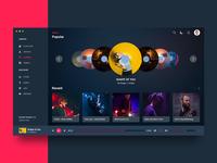 iMusic Dark - Apple OS Music Player