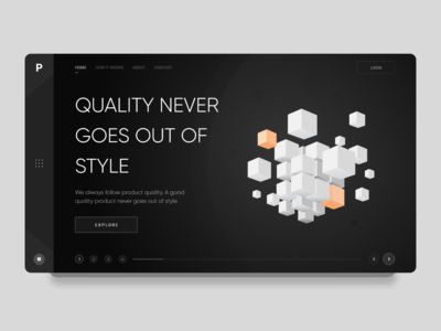 CUBE - 2019 BLACK user interface design latest 2019 app admin typography landing page illustration web design branding cube black black ui design dashboard minimal clean ui