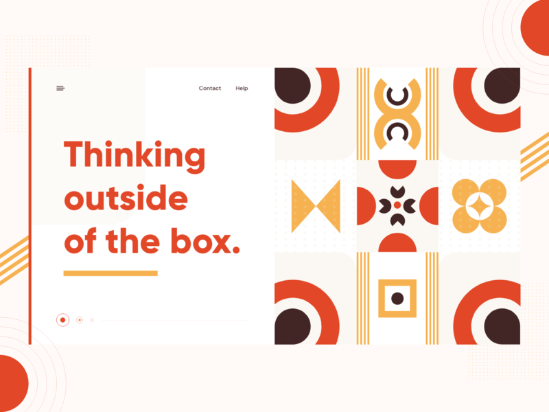 Thinking Outside of the box - Craftwork Design web walkthrough ux ui design ui pattern motion minimal light illustration hero header freebie design craftwork contrast concept colors clean animation