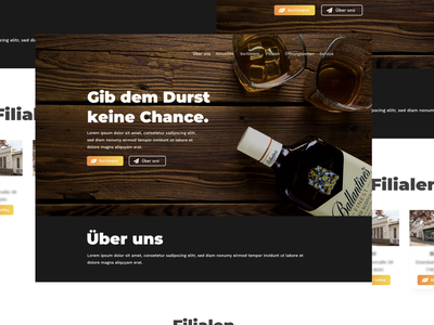 "Webdesign Concept ""Durst"" ux ui concept clean drinks markt getränke durst landing page webdesign design web"