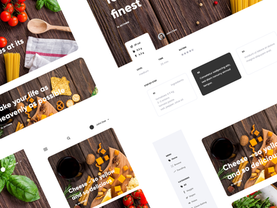Recipe app concept branding design webdesign clean website web food page landing ux ui concept app recipe