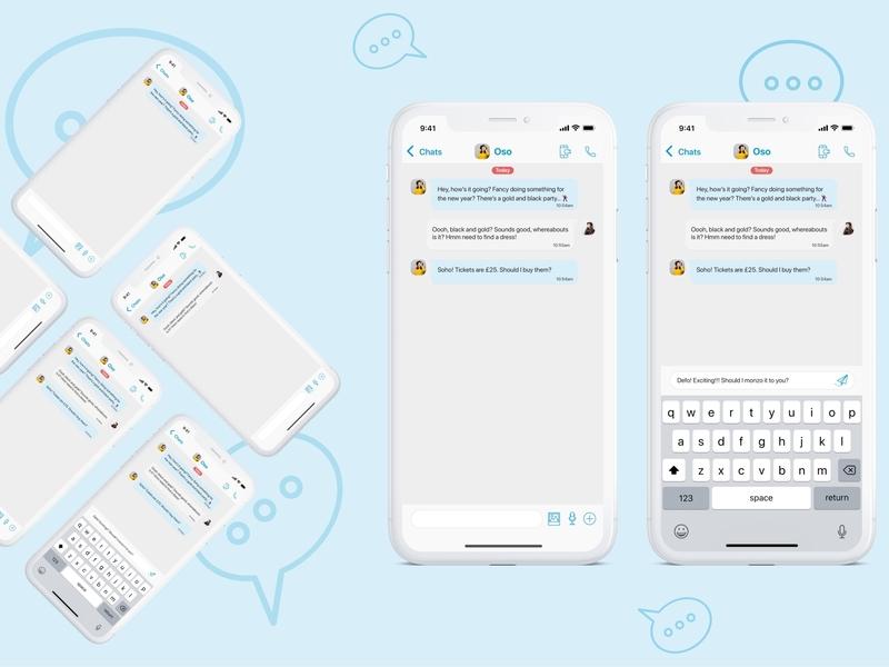 Daily UI 013 - Direct Messaging app design ios design messaging app dailyui 013 dailyui