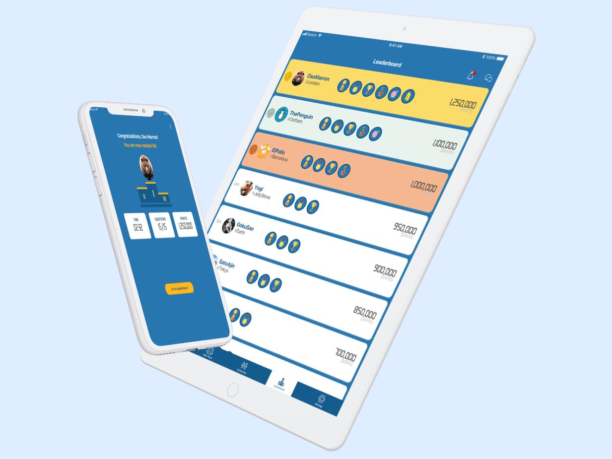 Daily UI Challenge 019 - Leaderboard ui ipad app leaderboard daily ui 019 dailyui