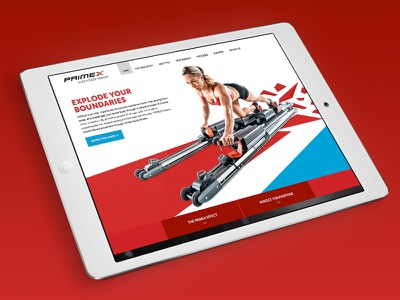 PRIMEX Trainer Website responsive website training athletic fitness