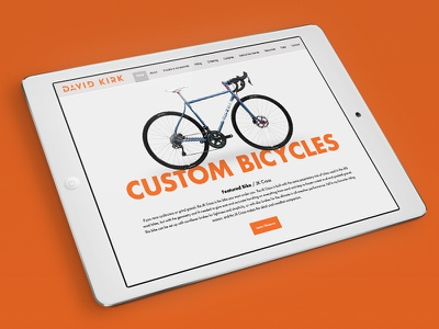 Custom Bike Website responsive design website custom bikes bike