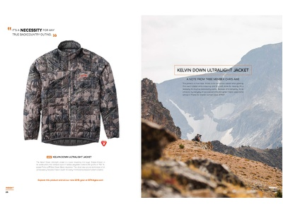 SITKA Gear Insight product clean simple brand book magazine sitka gear hunting