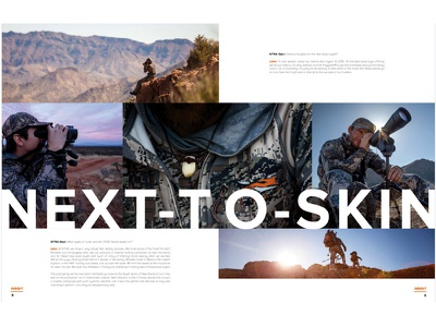SITKA Gear Insight Spread product clean simple brand book magazine sitka gear hunting