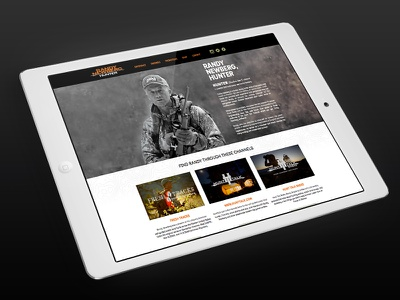 Randy Newberg Website tv host montana deer elk hunting single page responsive website conservation