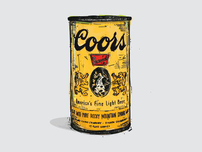 Vintage Coors Can vector rocky mountain illustration beer can beer label beer coors