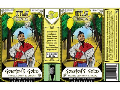 Goemon Gold Beer Label